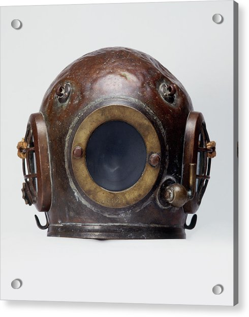 Old-fashioned, Deep Sea Divers Helmet Acrylic Print by Ray Moller