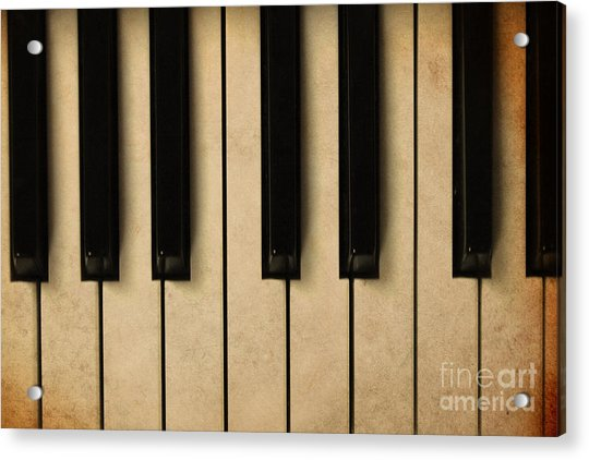 Old Piano Vintage Background Acrylic Print by Midiwaves