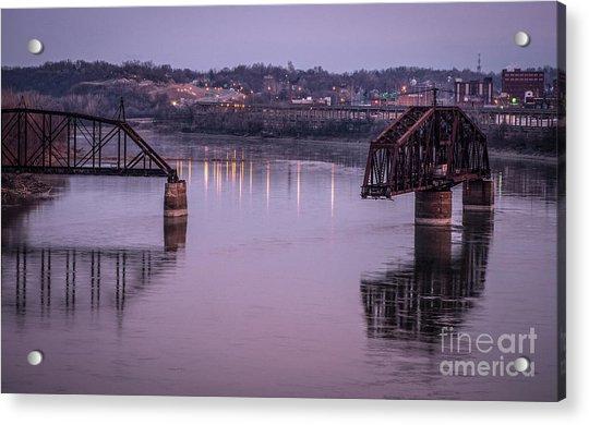Old Swing Bridge Acrylic Print