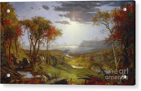 On The Hudson River, 1860 Acrylic Print