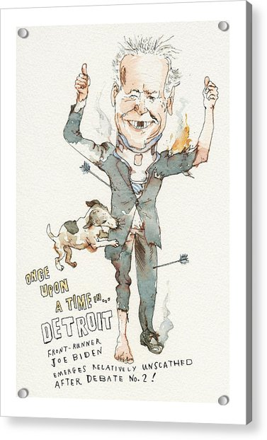 Once Upon A Time . . . In Detroit Acrylic Print by Barry Blitt