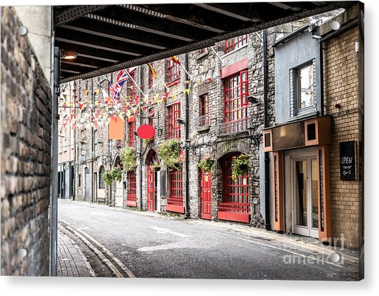 One Beautiful  Street  In Dublin Acrylic Print by Massimofusaro
