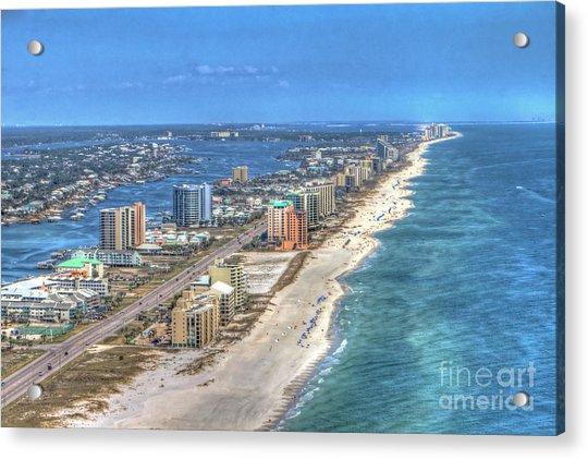 Orange Beach East Acrylic Print