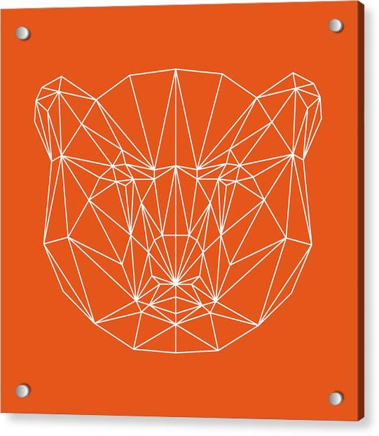 Orange Bear Acrylic Print