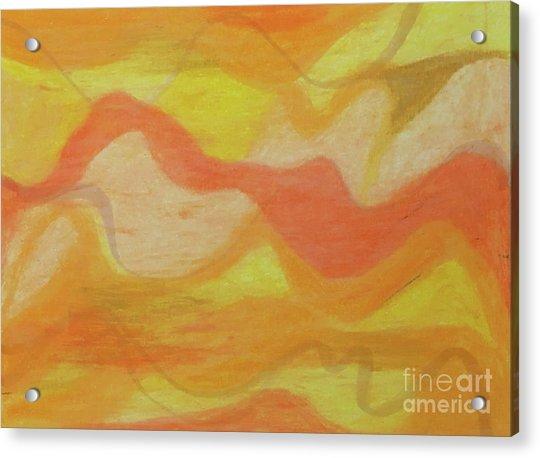 Orange Colors 1 Acrylic Print