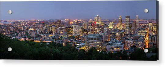 Panorama Of Montreal Skyline Acrylic Print by Wichan Yingyongsomsawas
