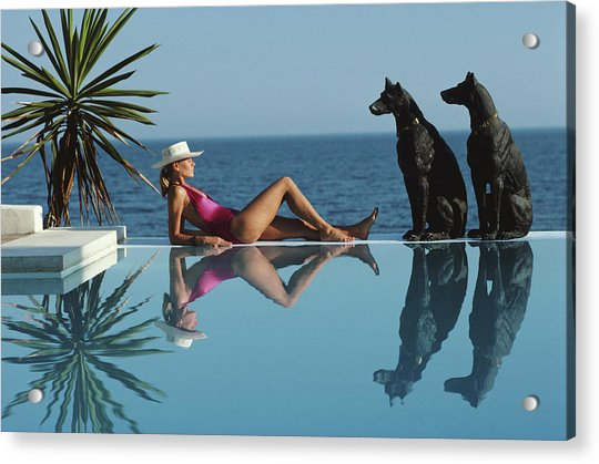 Pantz Pool Acrylic Print by Slim Aarons