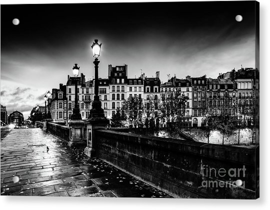 Paris At Night - Pont Neuf Acrylic Print