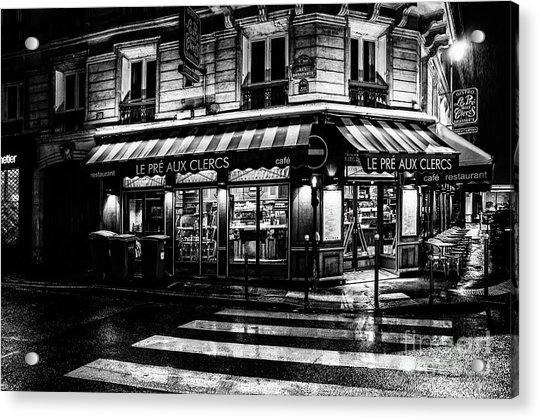 Paris At Night - Rue Bonaparte Acrylic Print