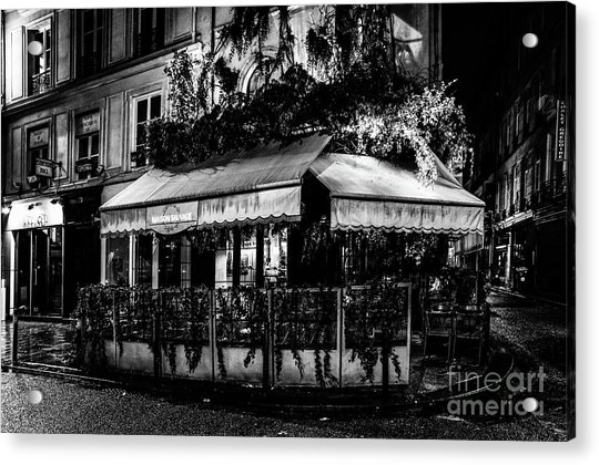 Paris At Night - Rue De Buci Acrylic Print