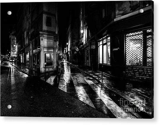 Paris At Night - Rue De Seine Acrylic Print