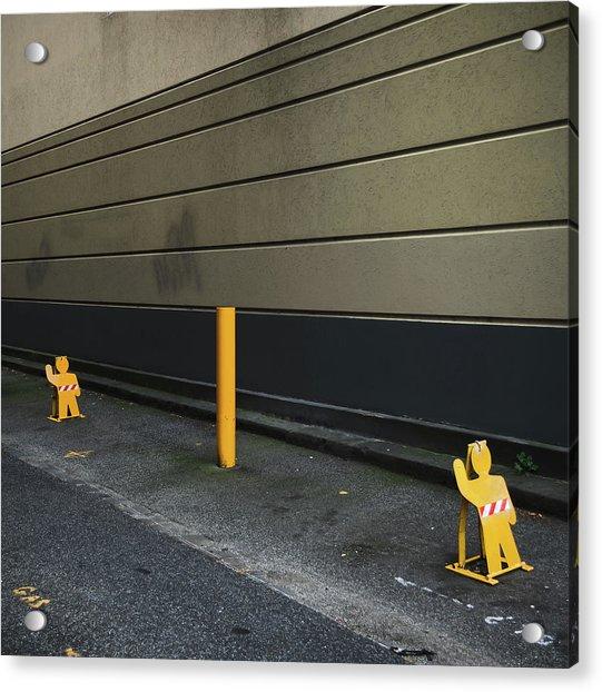 Parking Guards Humanoid Acrylic Print