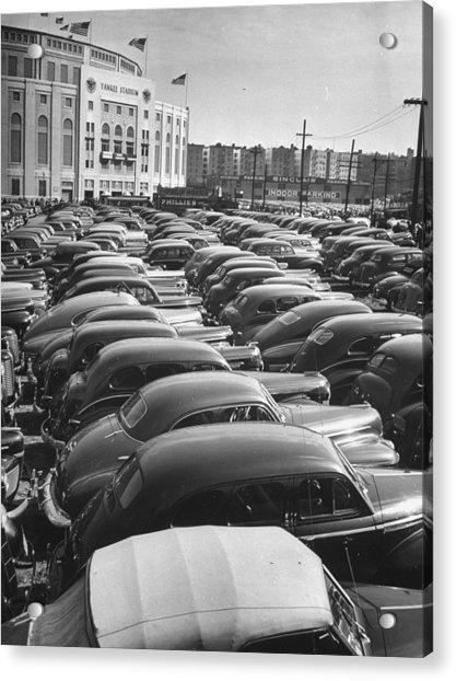 Parking Lot At Yankee Staduim During Wor Acrylic Print