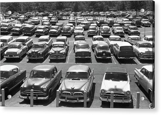 Parking Lot Full Of Cars Acrylic Print