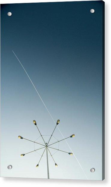 Parking Lot Light At Airport, Vapour Acrylic Print