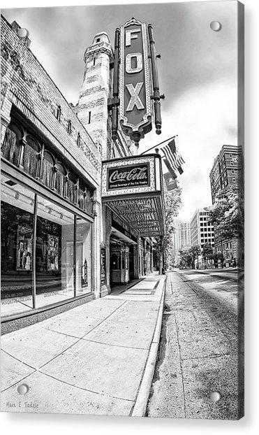 Peachtree Street And The Fox Theatre - Atlanta Acrylic Print
