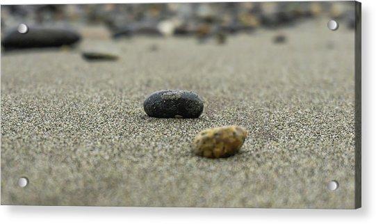 Pebbles On The Beach Acrylic Print