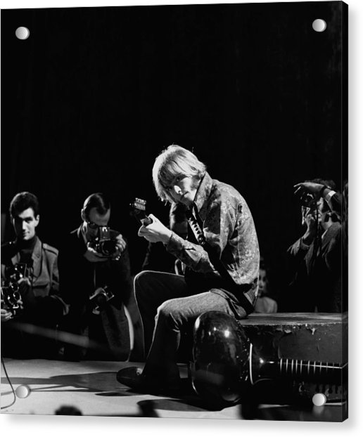 Photo Of Brian Jones And Rolling Stones Acrylic Print by David Redfern