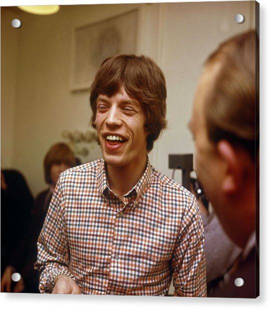 Photo Of Rolling Stones And Mick Jagger Acrylic Print by David Redfern
