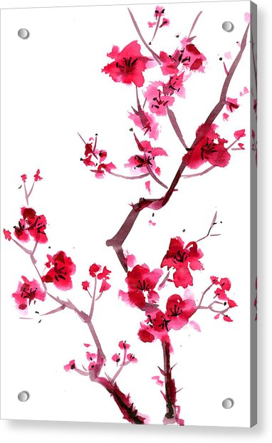Plum Blossom Painting Acrylic Print
