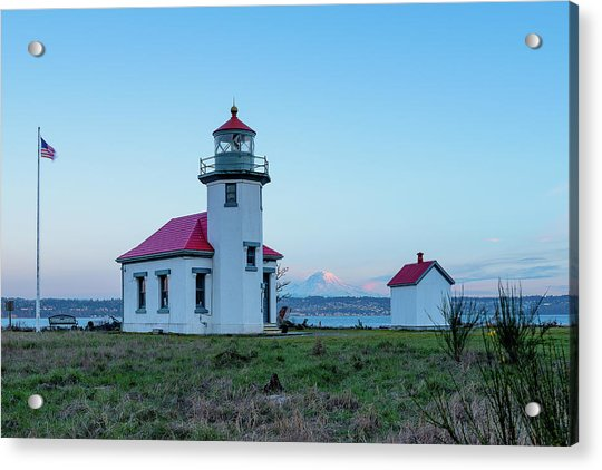 Point Robinson Lighthouse At Maury Island, Wa Acrylic Print