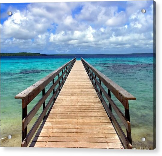 Pontoon New Caledonia Acrylic Print by Vincent Jary