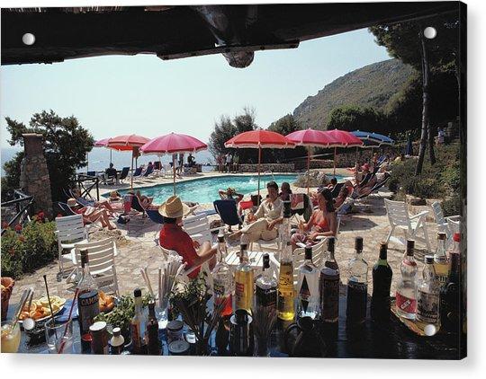 Poolside Bar Acrylic Print by Slim Aarons