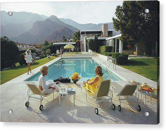 Poolside Gossip Acrylic Print