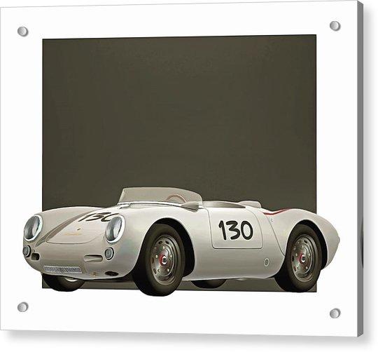 Acrylic Print featuring the digital art Porsche 550a Spyder 1956 by Jan Keteleer
