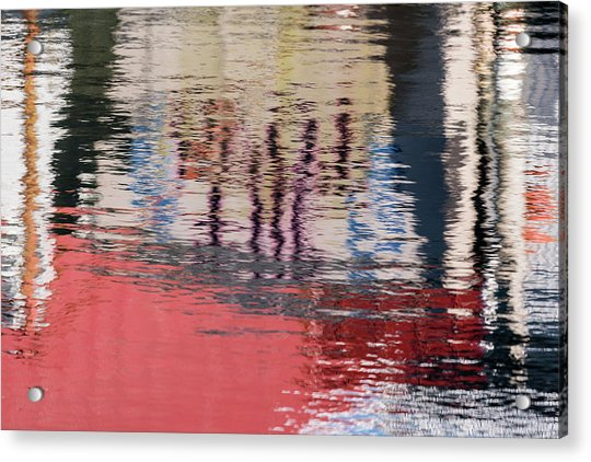 Port Reflections Acrylic Print