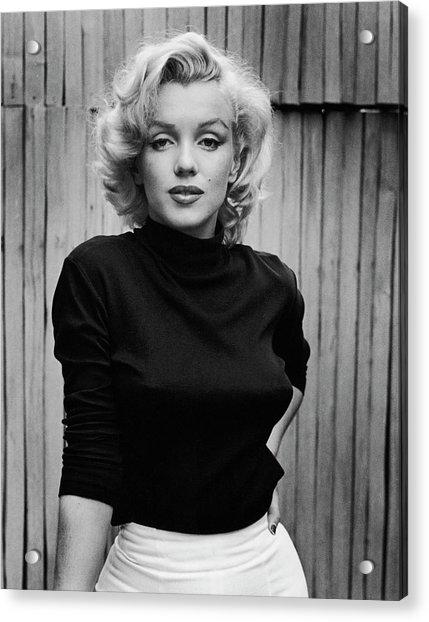 Portrait Of Marilyn Monroe Acrylic Print