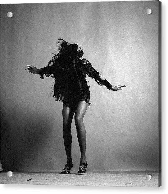 Portrait Of Tina Turner Acrylic Print
