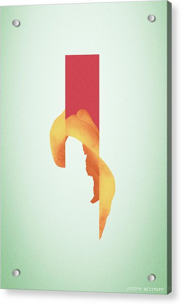 Powder Bone Flare - Surreal Abstract Elephant Bone Collage With Rectangle Acrylic Print