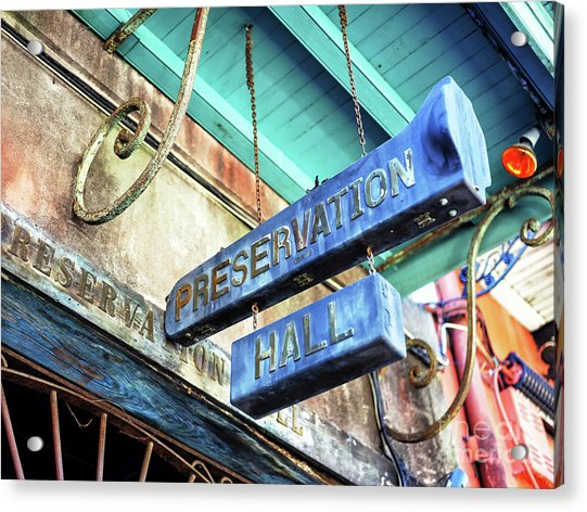 Preservation Hall In New Orleans Acrylic Print by John Rizzuto
