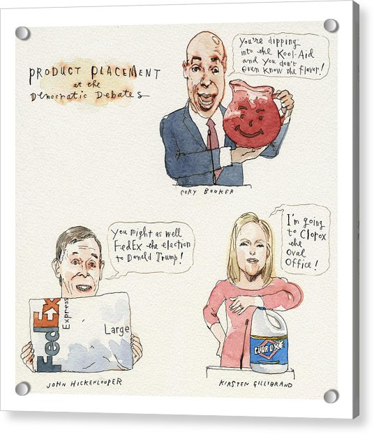 Product Placement Acrylic Print by Barry Blitt