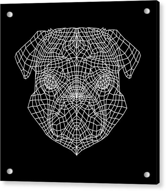 Pug's Face Mesh Acrylic Print