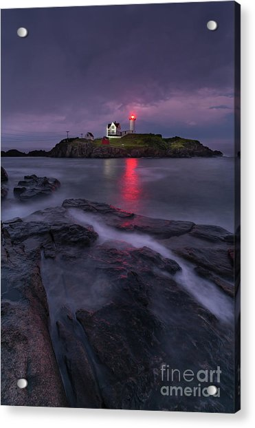 Purple Haze At Nubble Lighthouse Acrylic Print