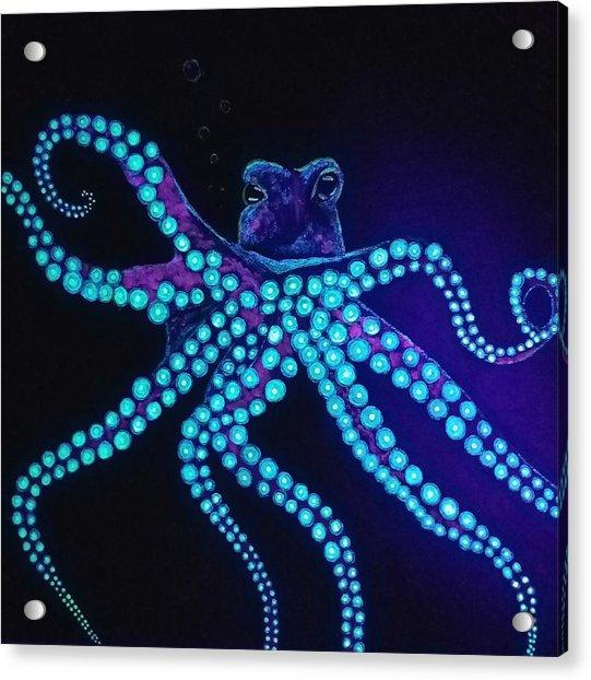Purple Octopus  Acrylic Print