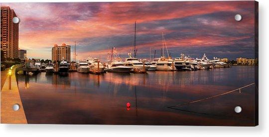 Quiet Evening On The Marina Acrylic Print