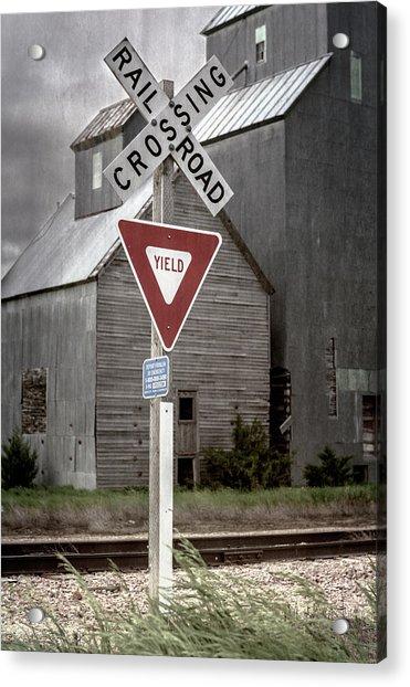 Railroad Crossing Cottonwood South Dakota II Acrylic Print