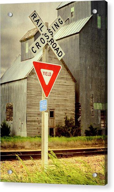 Railroad Crossing Cottonwood South Dakota Acrylic Print