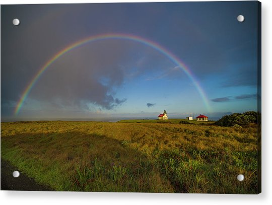 Rainbow At Point Cabrillo Acrylic Print