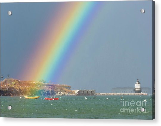 Rainbow At Spring Point Ledge Acrylic Print