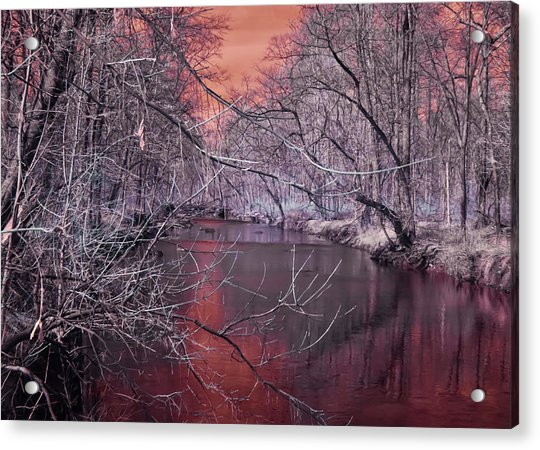 Red Creek Acrylic Print
