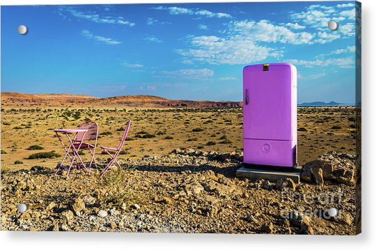 Refreshments Pit Stop In The Middle Of Nowhere Acrylic Print
