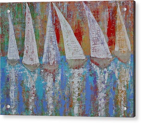 Regatta Original Painting Acrylic Print