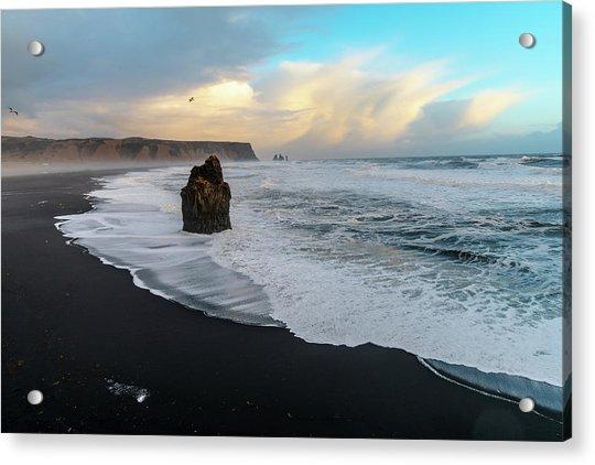 Reynisfjara Beach At Sunset Acrylic Print