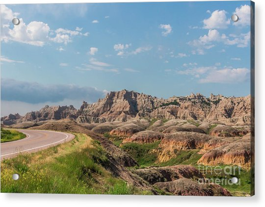 Road To The Badlands Acrylic Print