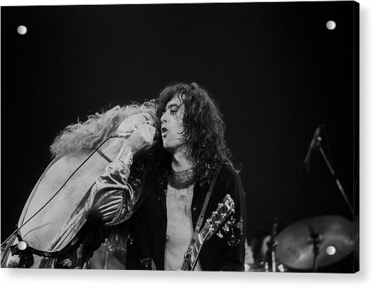 Robert Plant And Jimmy Page Acrylic Print by Art Zelin