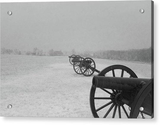 Row Of Cannon Acrylic Print